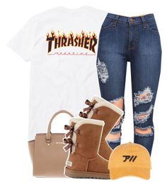 """thrasher ."" by clinne345 ❤ liked on Polyvore featuring UGG and Michael Kors"