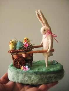 Bunny and Chicks small center piece by Maria Pahls