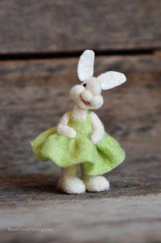 Bear Creek Bunny #311 needle felted by Teresa Perleberg
