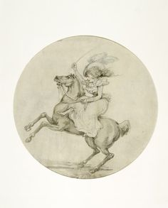 Showing off in Rotten Row: 18th century, Date: 1780-1795, Thomas Rowlandson