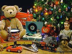 Fondo de Pantalla de Juguetes de Navidad