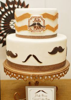 Cake from a Little Man Mustache Party #littleman #mustachecake
