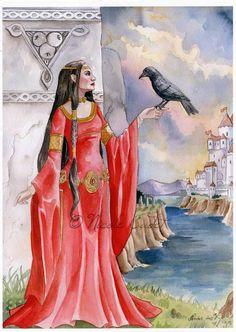 Morgan Le Fay - goddess, Arthurian myth | Nicole Cadet Fantasy Art