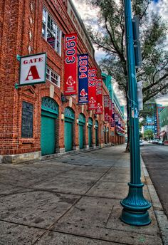 Outside Fenway Park, Boston, Massachusetts - I just made this my home screen wallpaper on my phone.  :)