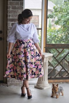 Coming Up Roses Midi Skirt Modest Dresses Casual, Plus Size Maxi Dresses, Modest Outfits, Simple Dresses, Modest Fashion, Fashion Dresses, Cute Skirt Outfits, Cute Skirts, Modele Hijab