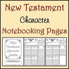 Notebooking Nook: Free New Testament Character Study Notebooking Pages