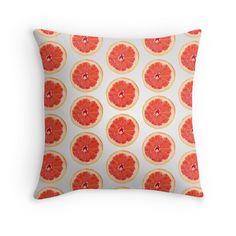'Grapefruit Slice Pattern' Throw Pillow by houseofenigma Grapefruit, Bedding, Throw Pillows, Sweet, Pattern, Candy, Toss Pillows, Patterns, Decorative Pillows