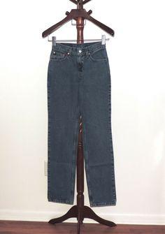b03585a5c52 Levi s 512 Junior 5 Long Slim Fit Straight Leg Denim Jeans 27 x 33  Levis