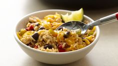 Give chicken stew a Southwestern twist with cumin, beans, and convenient frozen bell peppers and onions.
