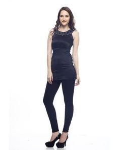 Satin Short Dress blackSD0033