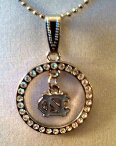 University of North Carolina Tarheels Necklace with a UNC Charm Pendant
