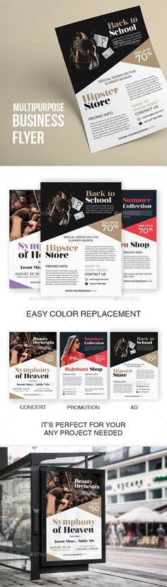 Multipurpose Clean Flyer Template PSD. Download here: http://graphicriver.net/item/multipurpose-clean-flyer-template-vol-10/16820950?ref=ksioks