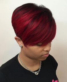Bright Burgundy Pixie # Braids afro curto 60 Great Short Hairstyles for Black Women # Braids afro curto Short Hair Styles For Round Faces, Hairstyles For Round Faces, African Hairstyles, Short Hair Cuts, Long Hair Styles, Pixie Cuts, Short Pixie, Curly Short, Asymmetrical Pixie