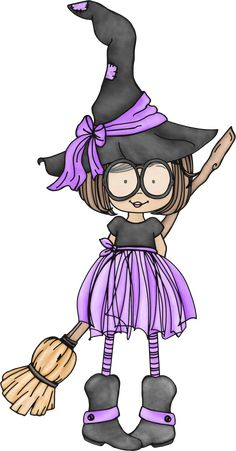 witch.quenalbertini: Cute little witch with glasses