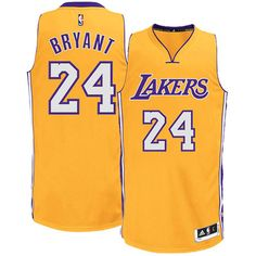 Los Angeles Lakers #24 Kobe Bryant New Swingman Authentic Gold Jersey