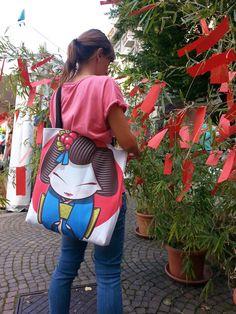 #geisha bag designed by Sara Penco  Available on #Society6 http://society6.com/product/geisha-ifq_bag#26=197