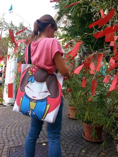 #geisha bag designed by Sara Penco  Available on #Society6 http://society6.com/product/geisha-ifq_bag#26=197