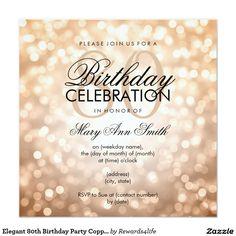 80th Birthday Invitation Pinteres