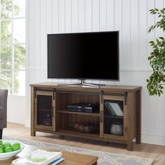 Dark Walnut 58 Inch Industrial TV Stand - Grant | RC Willey Furniture Store