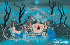 Original Concept Art for Disney's Animated 'Cinderella' Movie by Mary Blair