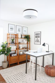home office makeover pinterest. A Neutral Office Makeover That Is Budget-friendly And Full Of Secret  Storage. Come Home Pinterest E