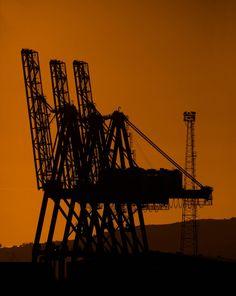 'Towering Cranes of Greenock' - Martin Holt