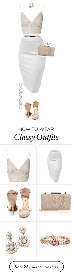 """Classy chic date night outfit"" by cherrysnoww on Polyvore featuring Glamorous, Anne Michelle, Oasis and Givenchy"
