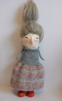 Old Little My  A papier mache art doll by maidolls on Etsy, £45.00