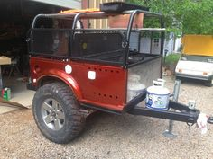 Building an off-road trailer on a budget. A good read for those looking to DYI an off road trailer or mini camper. Trailer Tent, Off Road Camper Trailer, Trailer Diy, Trailer Plans, Trailer Build, Camper Trailers, Campers, Jeep Camping Trailer, Homemade Trailer