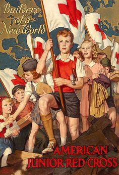 WWII American Junior Red Cross poster by Walter Beach Humphrey, 1943.