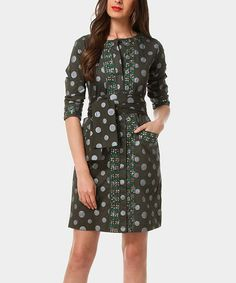Love this Olive Metropoli Dress by Almatrichi on #zulily! #zulilyfinds