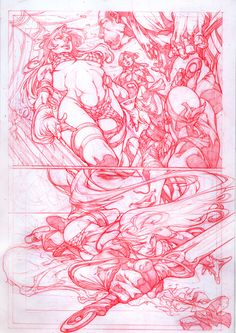red sonja sample page 3 by noelrodriguez on DeviantArt