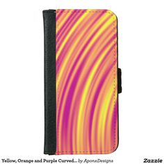 Yellow, Orange and Purple Curved Ripples Pattern Orange And Purple, Yellow, Iphone Case Covers, Cover Design, Nice, Pattern, Patterns, Nice France, Model