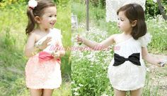 Girls Baby Toddler One Shoulder Rose Flower Bow-knot Chiffon Party Dress 2-7T