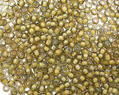 TOHO Luster Black Diamond (with Opaque Yellow Lining) Round 8/0 Seed Bead