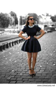 August street audrey dress black