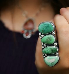 Bubbles of Life - Variscite Sterling Silver Ring