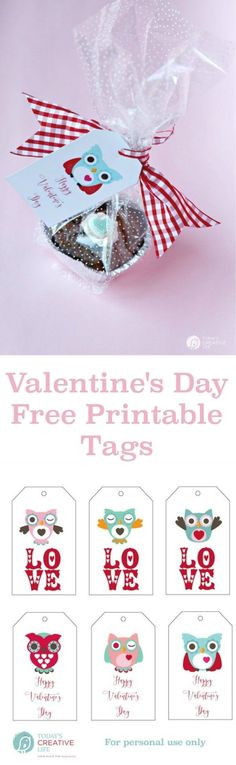 Valentine Treats are easy with these heart shaped brownie bites & adorable free printable owl gift tags. See more by clicking on the photo. http://TodaysCreativeLIfe.com