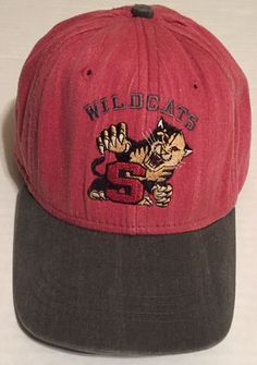 Wildcats S Strapback Hat Gray Red Beat Up Well Worn #ImperialHeadwear #BaseballCap