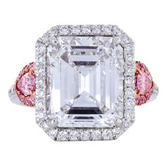 Spectacular Emerald Cut Diamond Ring GIA 5.26cts D Internally Flawless