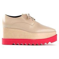 Stella McCartney Britt Platform Shoes ❤ liked on Polyvore featuring shoes, stella mccartney, platform shoes and stella mccartney shoes