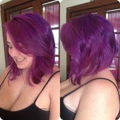 Long purple bob