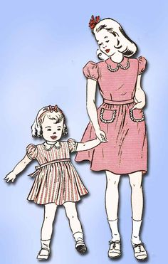 Butterick Pattern 3359 Toddler Girl's Dress Pattern Cute Collar Design Dated 1945 Complete Nice Condition 9 of 9 Pieces Counted. Verified. Guaranteed. Unprinted Pattern Pieces Nice Condition Overall S