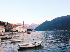 Perast, in Bay of Kotor, Montenegro, across the water from Italy. Borders Serbia, Bosnia and Herzegovina