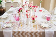 Glittering Pink and Gold Wedding Inspiration