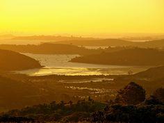 Waiheke Island, NZ (Photo taken from Trig Hill) Waiheke Island, Homeland, New Zealand, Places To Go, Explore, Sunset, World, Outdoor, Outdoors