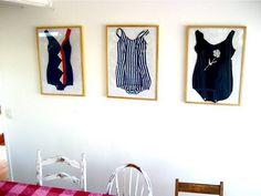 vintage swim suits-bathroom decore