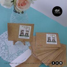¿Necesitas personalizar tus #sobres? Nosotros podemos ayudarte, éstas linduras fué el primer vistazo de una linda #bodavintage. Tú solo #idealízate que #DPi se encargará del resto #diseñopapelimpresión Invitations, Paper Envelopes