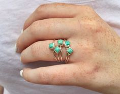 Can't get enough of our Kingman Stackers! #turquoisering