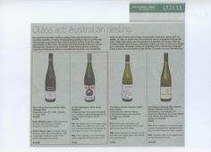 Last weeks Aussie Rieslings saw Cherubino and Wirra Wirra at the fore in the Sunday Times.